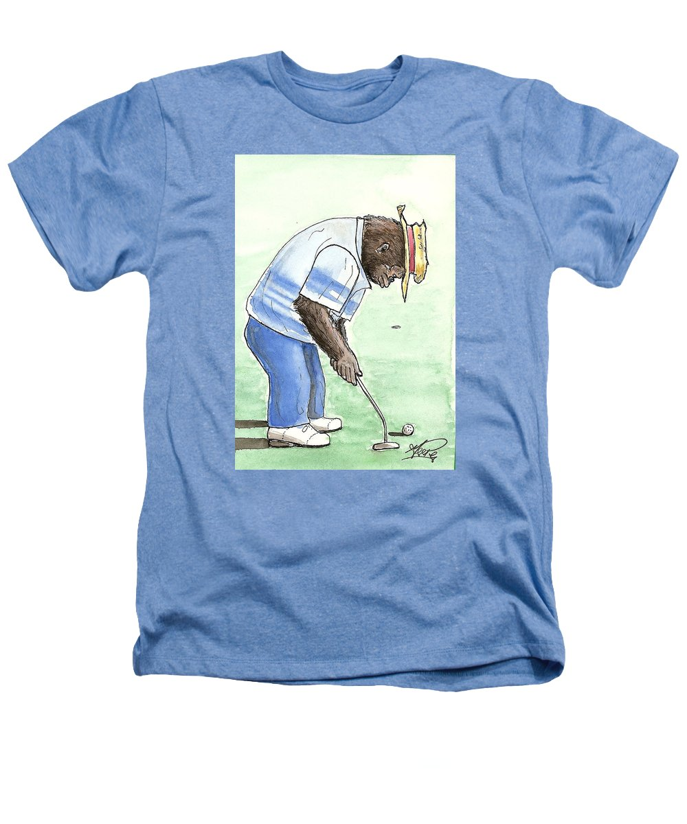 Golf Heathers T-Shirt featuring the painting Got You Now by George I Perez