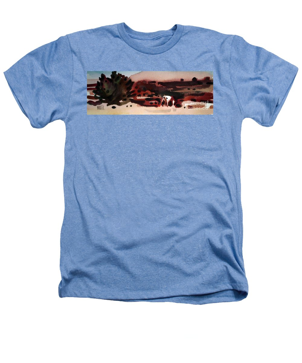 Horse Heathers T-Shirt featuring the painting Grazing Pinto by Donald Maier