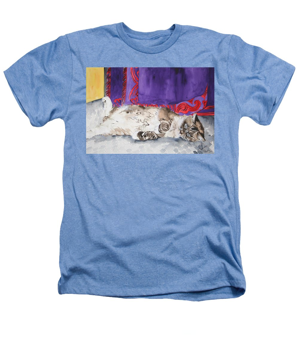 Cat Heathers T-Shirt featuring the painting Guilley by Jean Blackmer