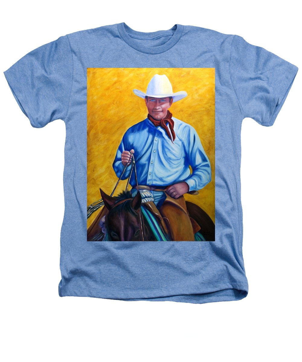 Cowboy Heathers T-Shirt featuring the painting Happy Trails by Shannon Grissom