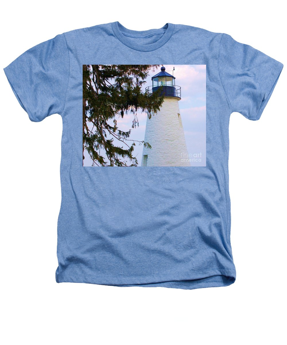 Lighthouse Heathers T-Shirt featuring the photograph Havre De Grace Lighthouse by Debbi Granruth