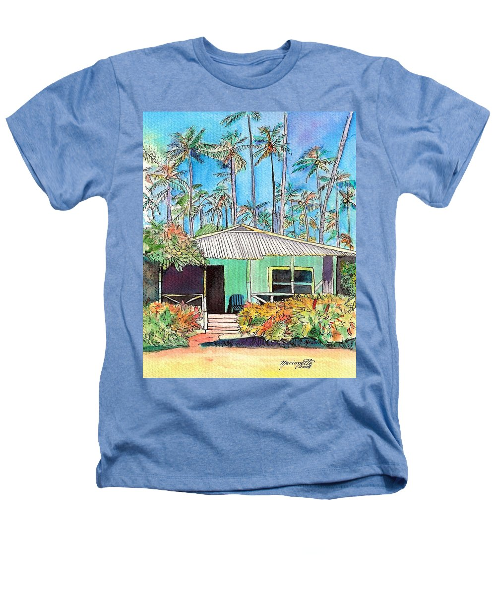 Cottage Heathers T-Shirt featuring the painting Hawaiian Cottage I by Marionette Taboniar