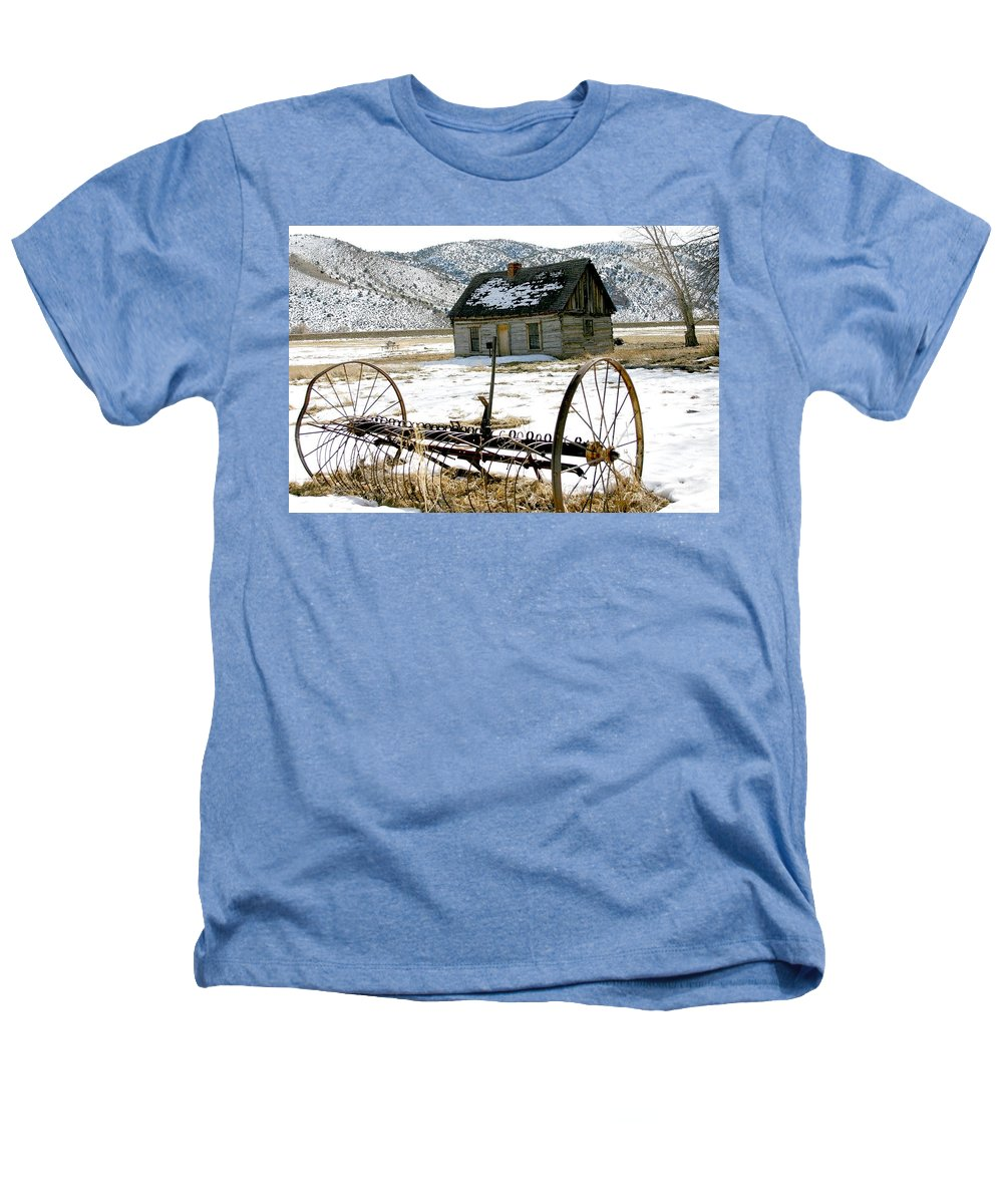 Utah Heathers T-Shirt featuring the photograph Hay Rake At Butch Cassidy by Nelson Strong