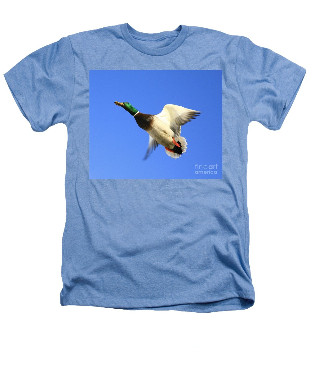 Duck Heathers T-Shirt featuring the photograph Heads Up by Robert Pearson