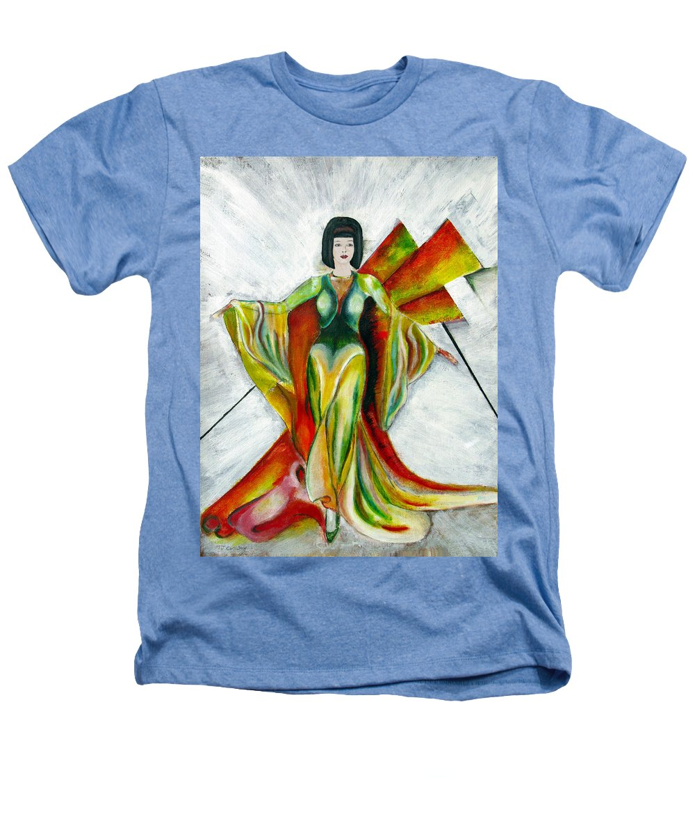 Dress Heathers T-Shirt featuring the painting Here Comes The Sun by Tom Conway