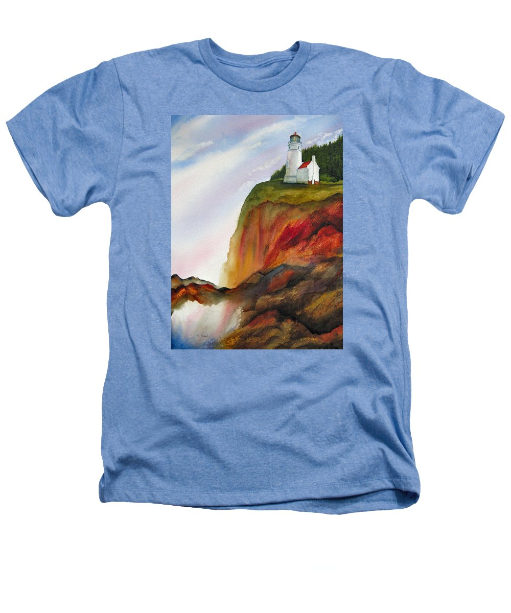 Coastal Heathers T-Shirt featuring the painting High Ground by Karen Stark
