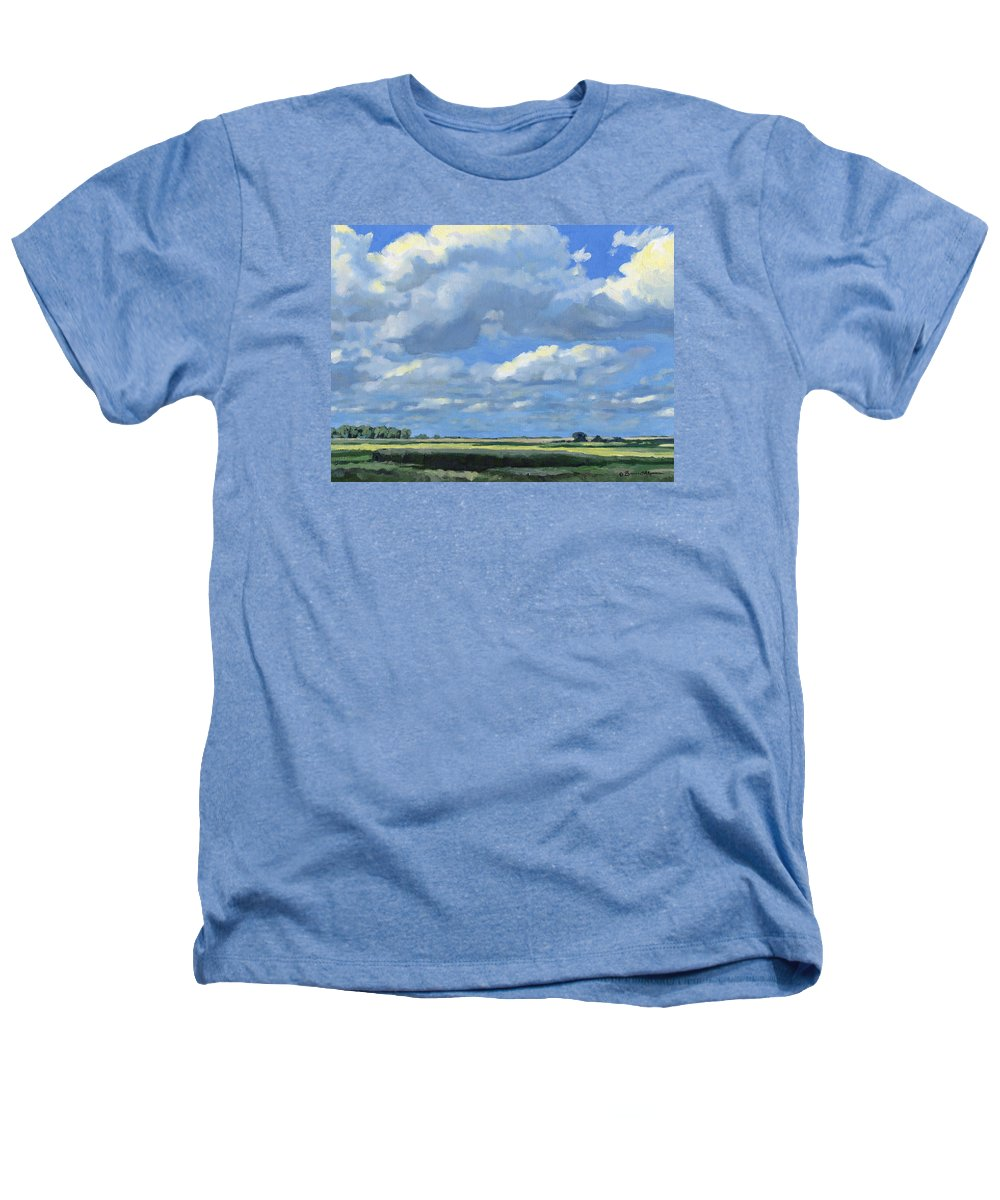 Landscape Heathers T-Shirt featuring the painting High Summer by Bruce Morrison