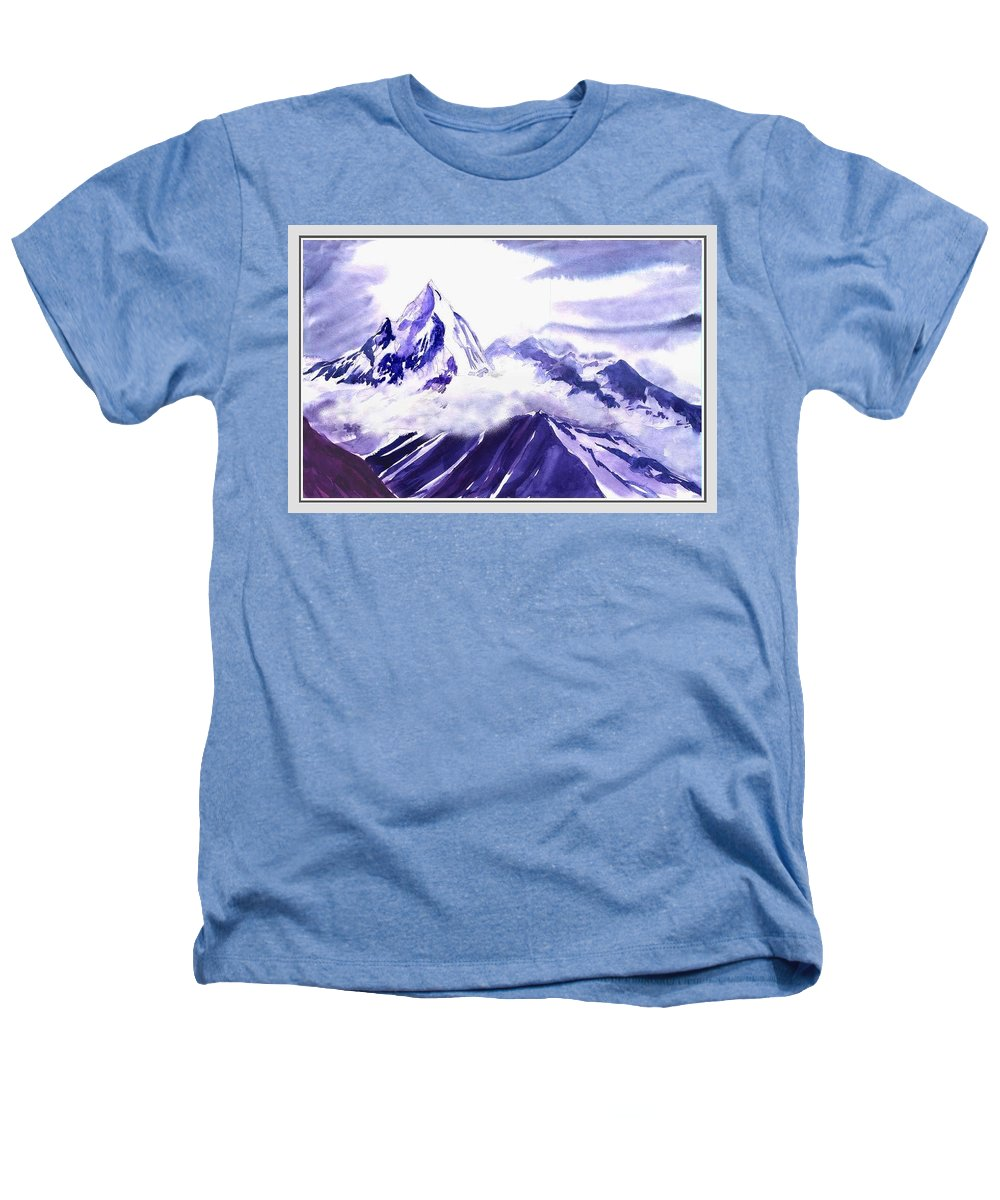 Landscape Heathers T-Shirt featuring the painting Himalaya by Anil Nene