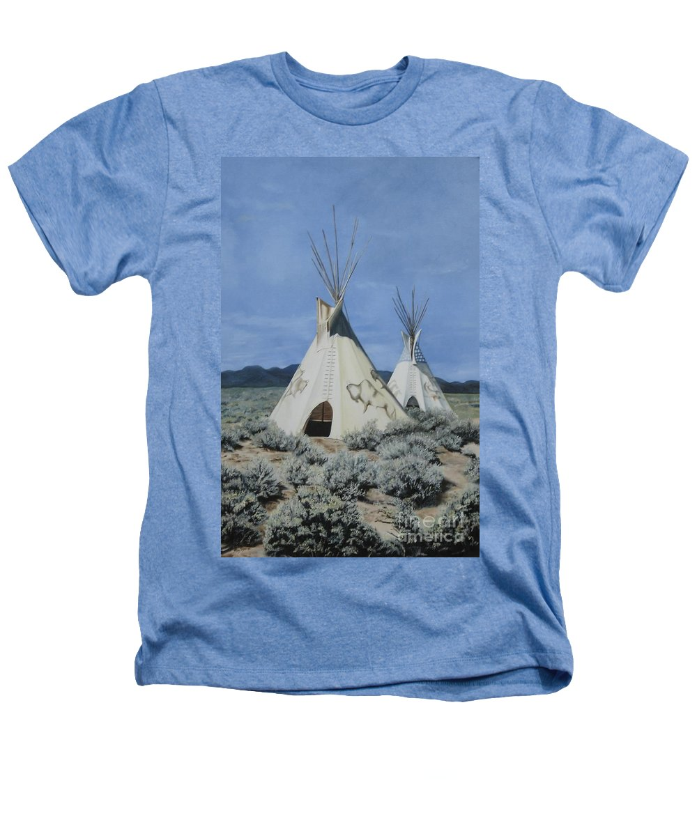 Art Heathers T-Shirt featuring the painting Home On The Range by Mary Rogers