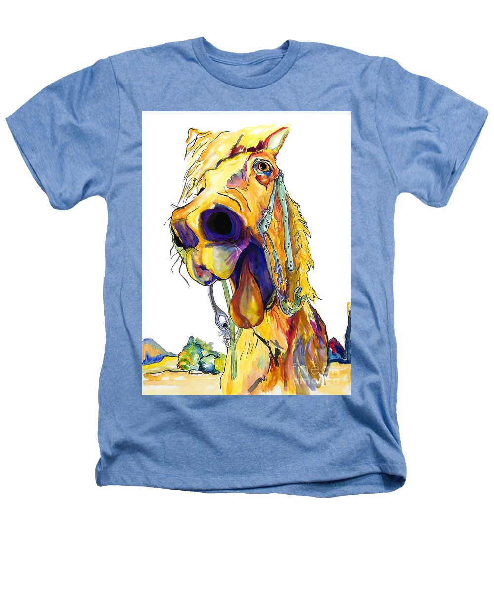Animal Painting Heathers T-Shirt featuring the painting Horsing Around by Pat Saunders-White