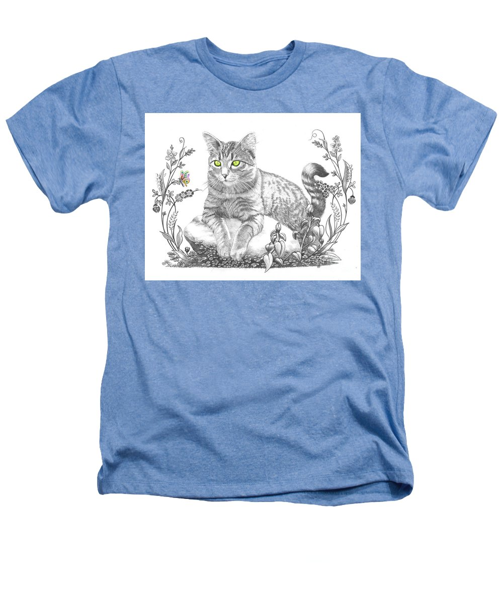 Cat Heathers T-Shirt featuring the drawing House Cat by Murphy Elliott