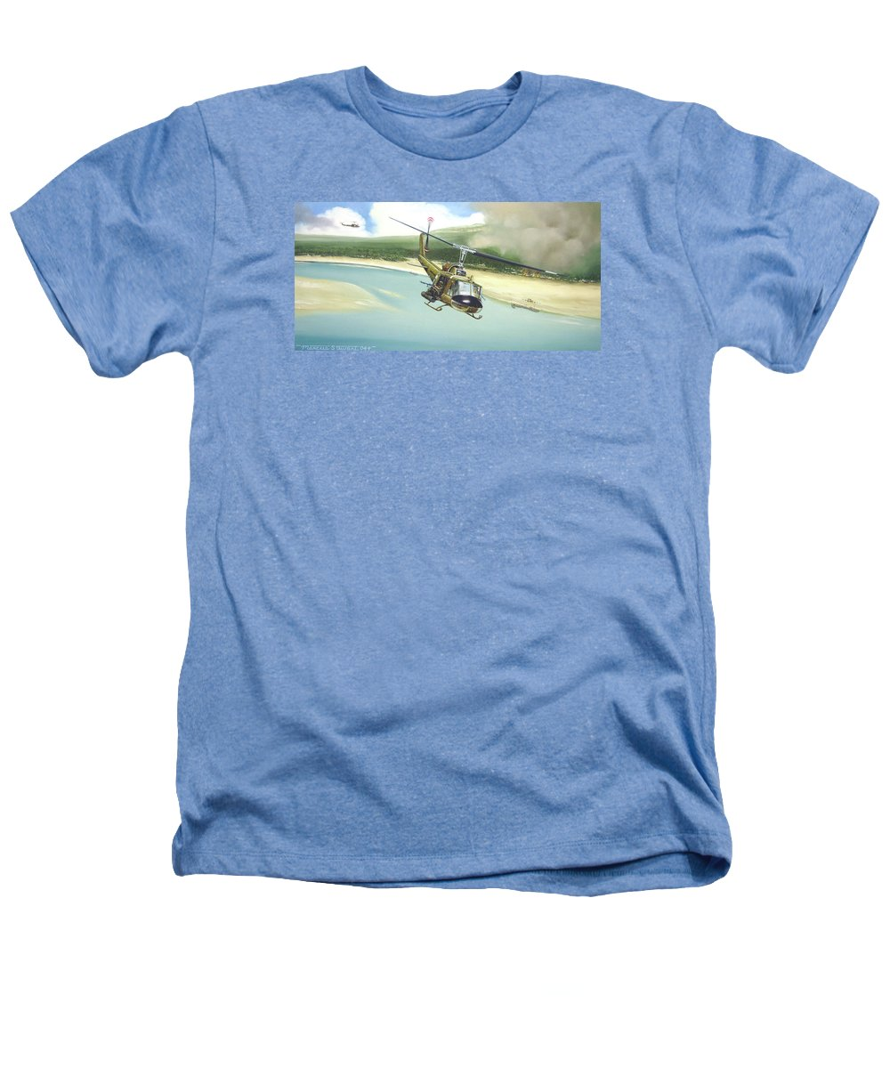 Military Heathers T-Shirt featuring the painting Hunter Hueys by Marc Stewart