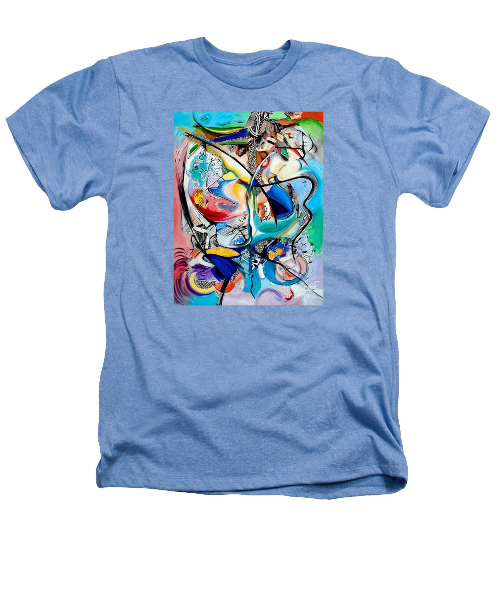 Abstract Heathers T-Shirt featuring the painting Intimate Glimpses - Journey Of Life by Kerryn Madsen-Pietsch