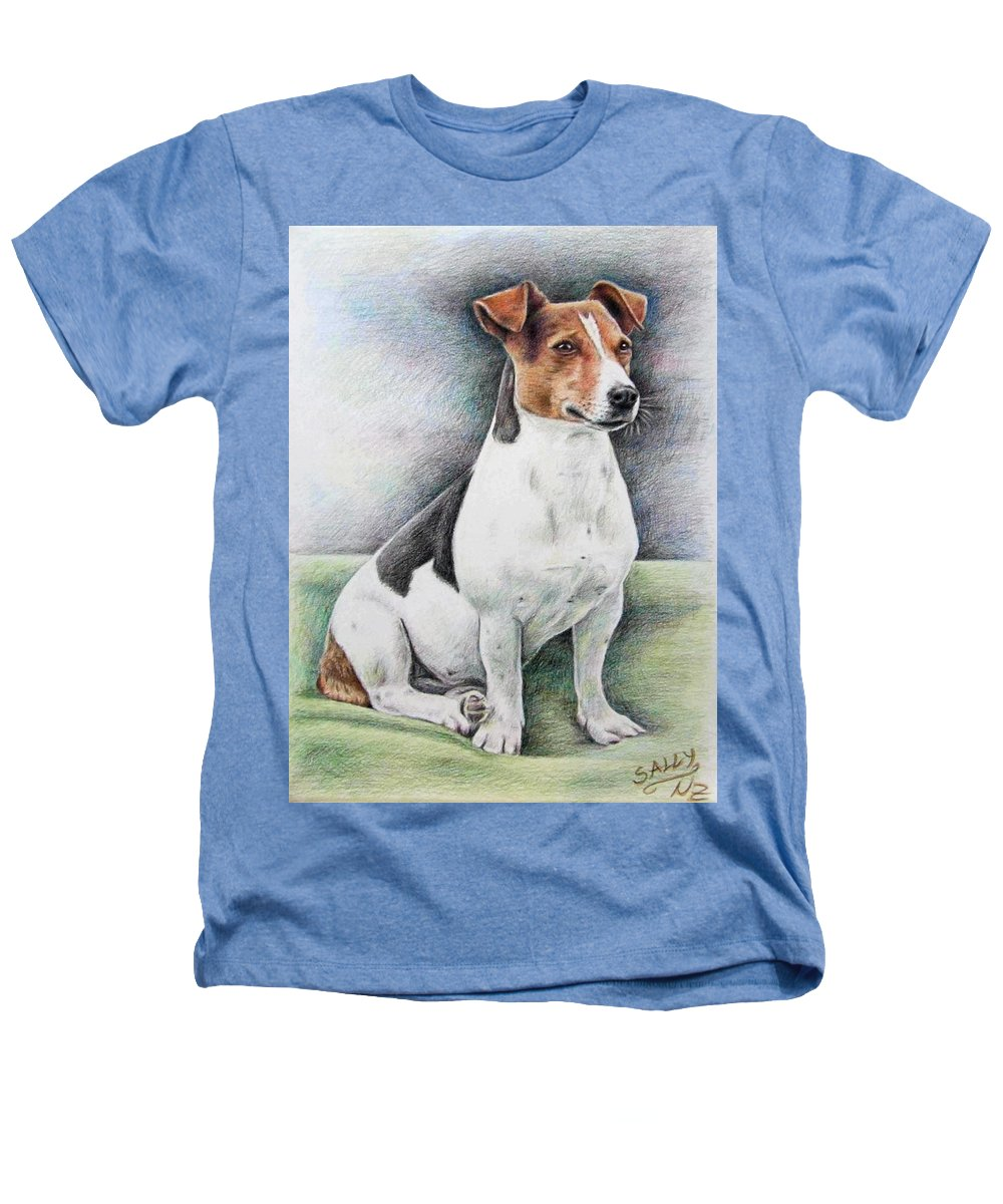 Dog Heathers T-Shirt featuring the drawing Jack Russell Terrier by Nicole Zeug