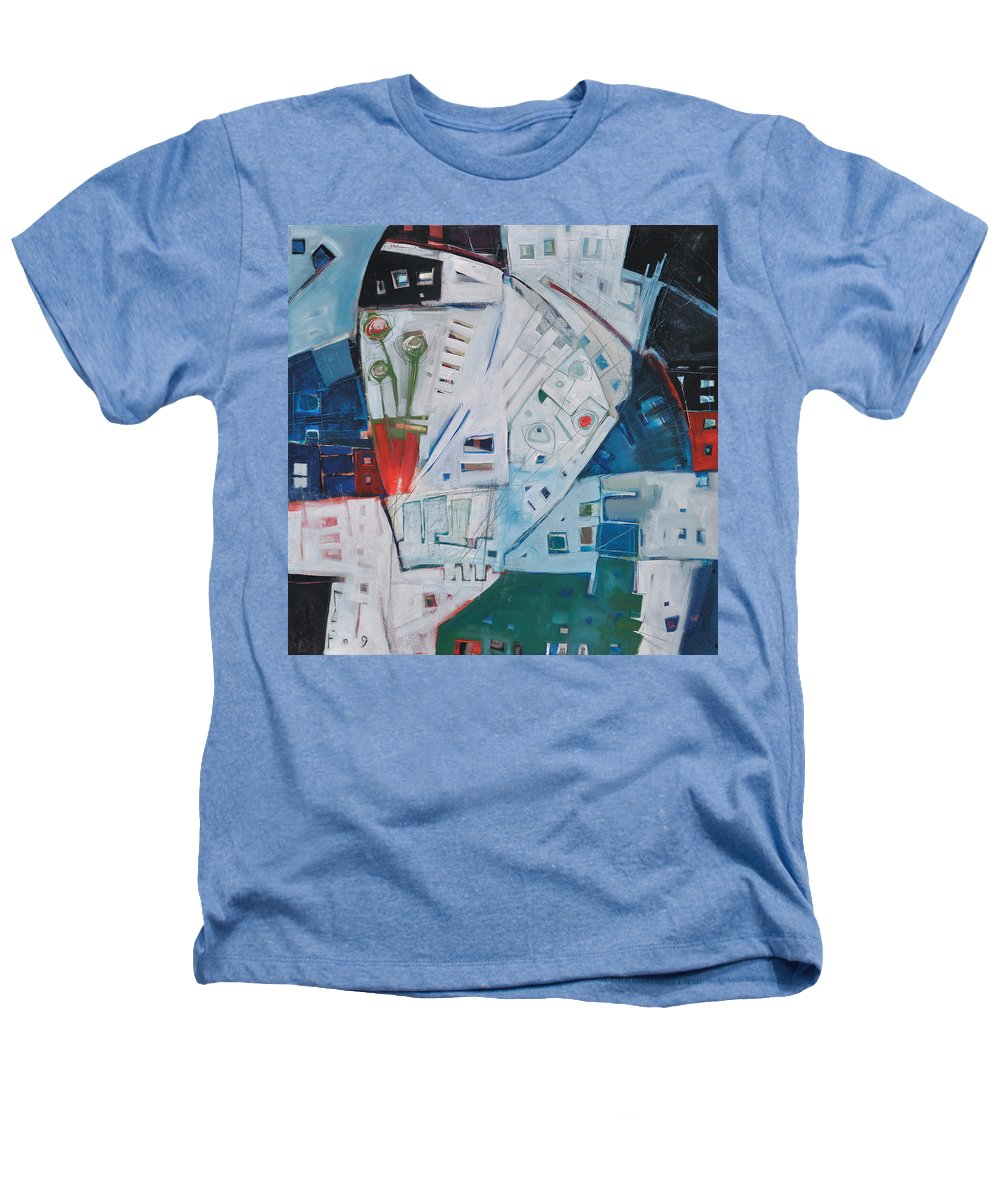 Jazz Heathers T-Shirt featuring the painting Jazz In Bloom by Tim Nyberg