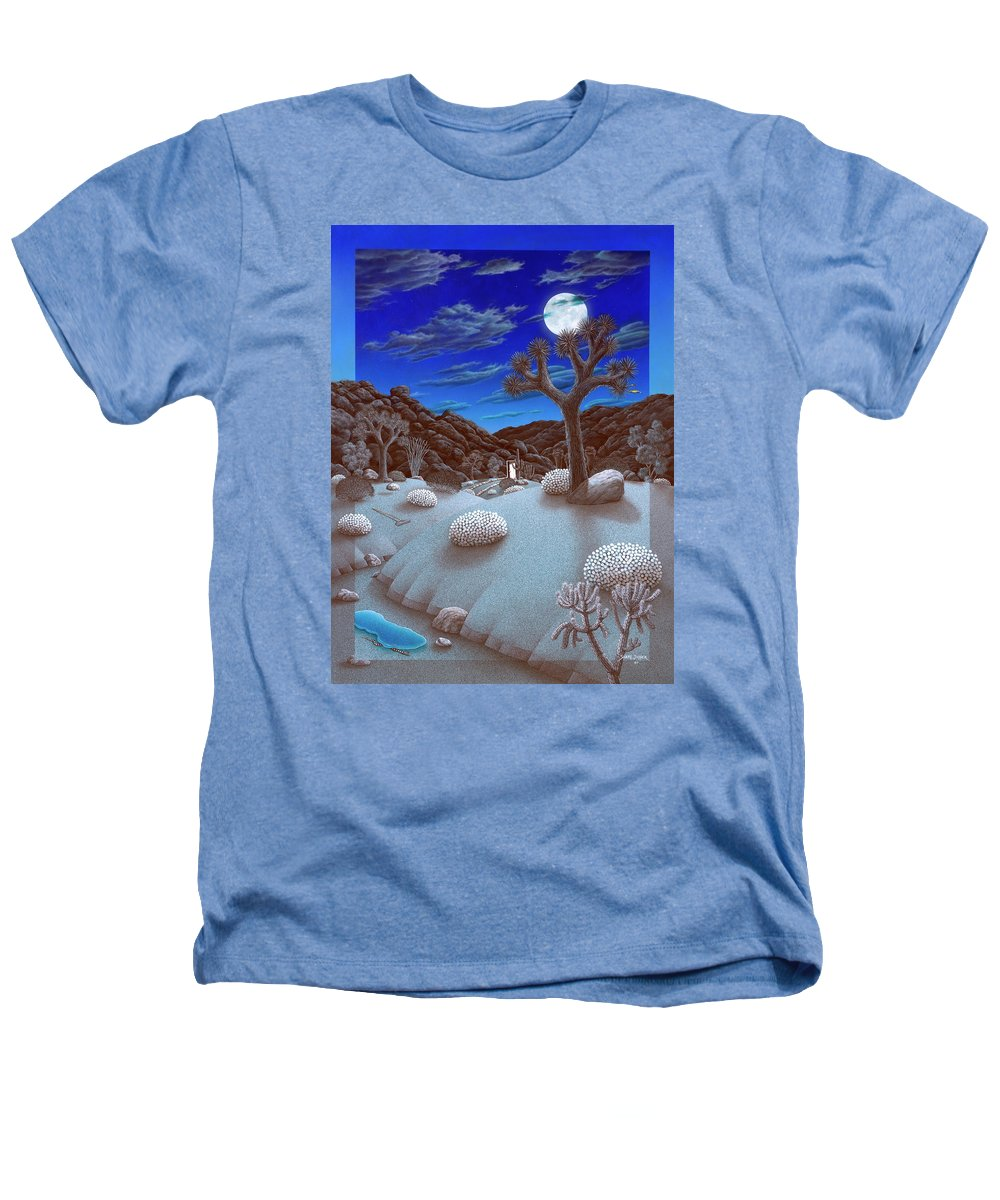 Landscape Heathers T-Shirt featuring the painting Joshua Tree At Night by Snake Jagger