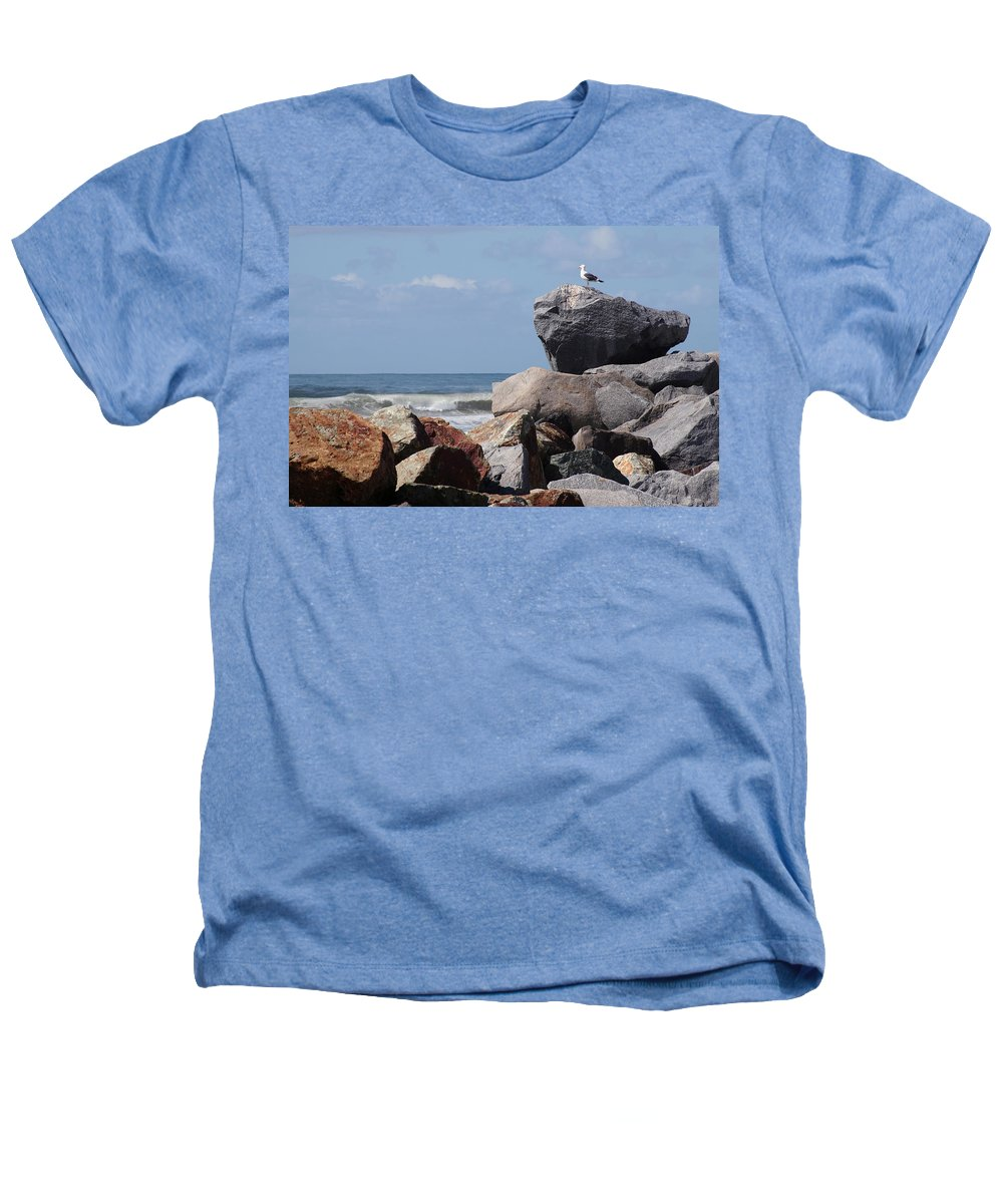 Beach Heathers T-Shirt featuring the photograph King Of The Rocks by Margie Wildblood