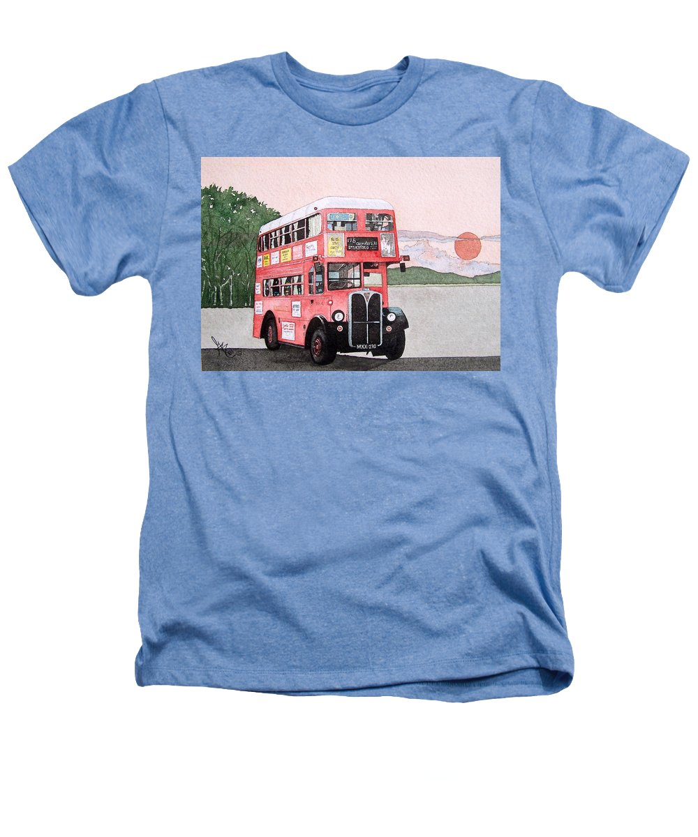 Bus Heathers T-Shirt featuring the painting Kirkland Bus by Gale Cochran-Smith