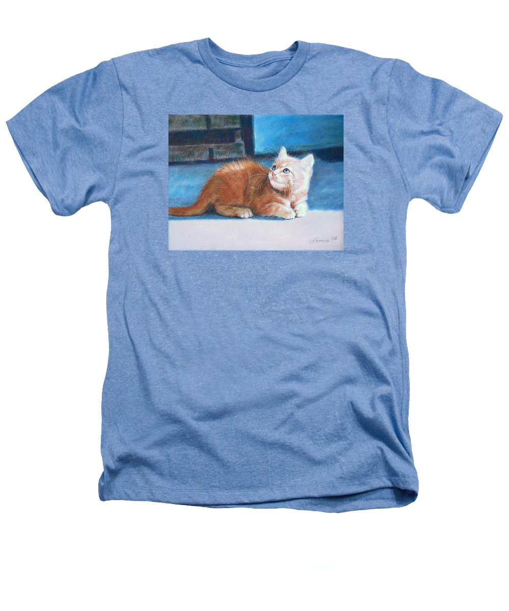 Cats Heathers T-Shirt featuring the painting Kitten by Iliyan Bozhanov