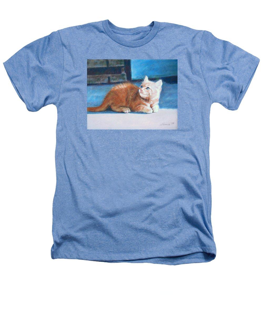Cats Heathers T-Shirt featuring the pastel Kitten by Iliyan Bozhanov