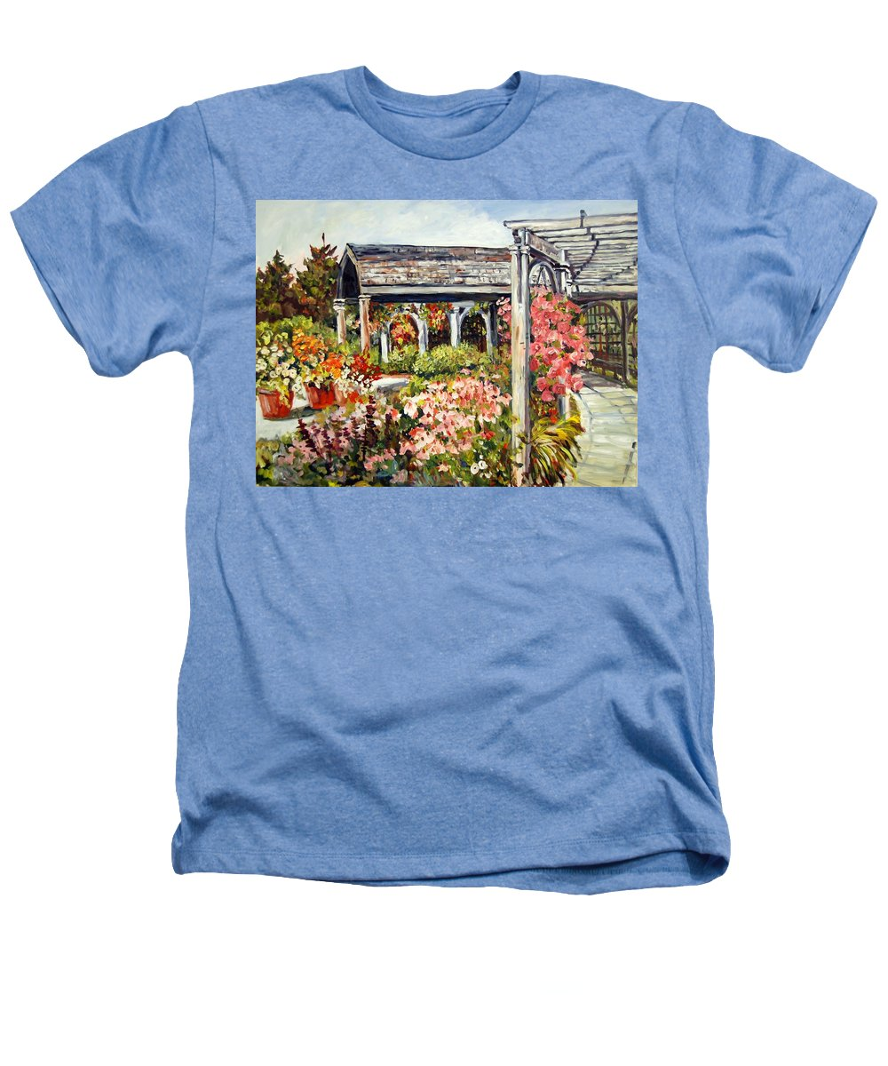 Landscape Heathers T-Shirt featuring the painting Klehm Arboretum I by Alexandra Maria Ethlyn Cheshire