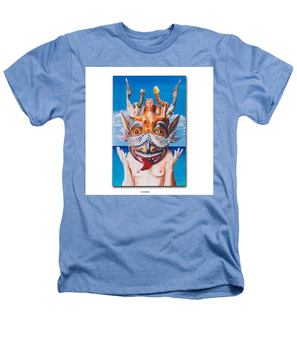 Hyperrealism Heathers T-Shirt featuring the painting La Sirena by Michael Earney