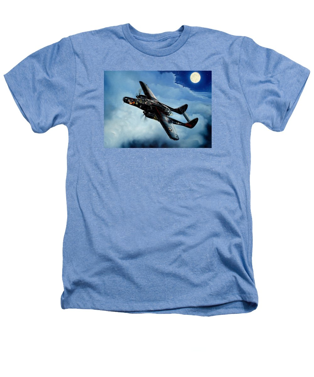 Military Heathers T-Shirt featuring the painting Lady In The Dark by Marc Stewart