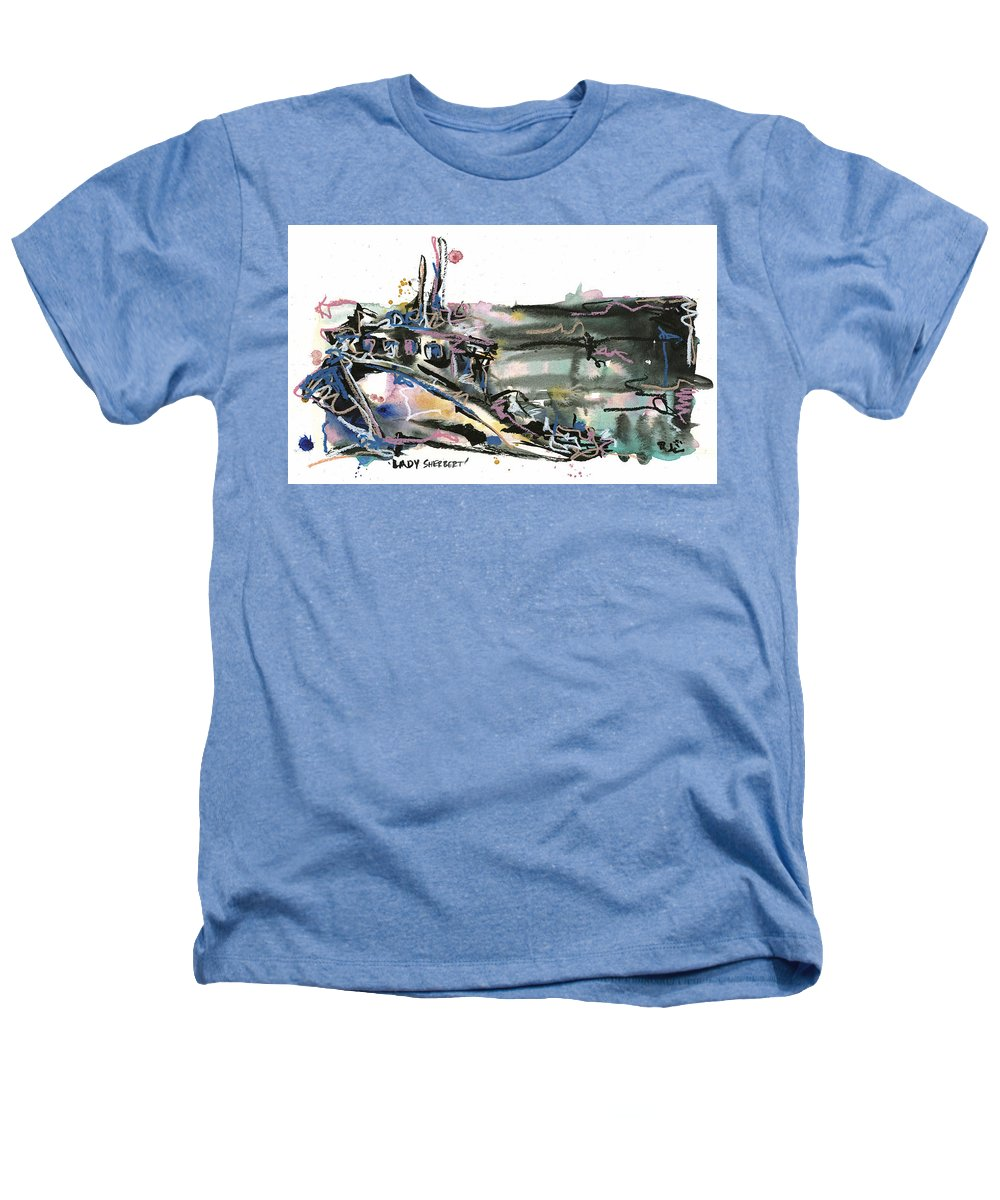 Seascape Heathers T-Shirt featuring the painting Lady Sherbert by Robert Joyner