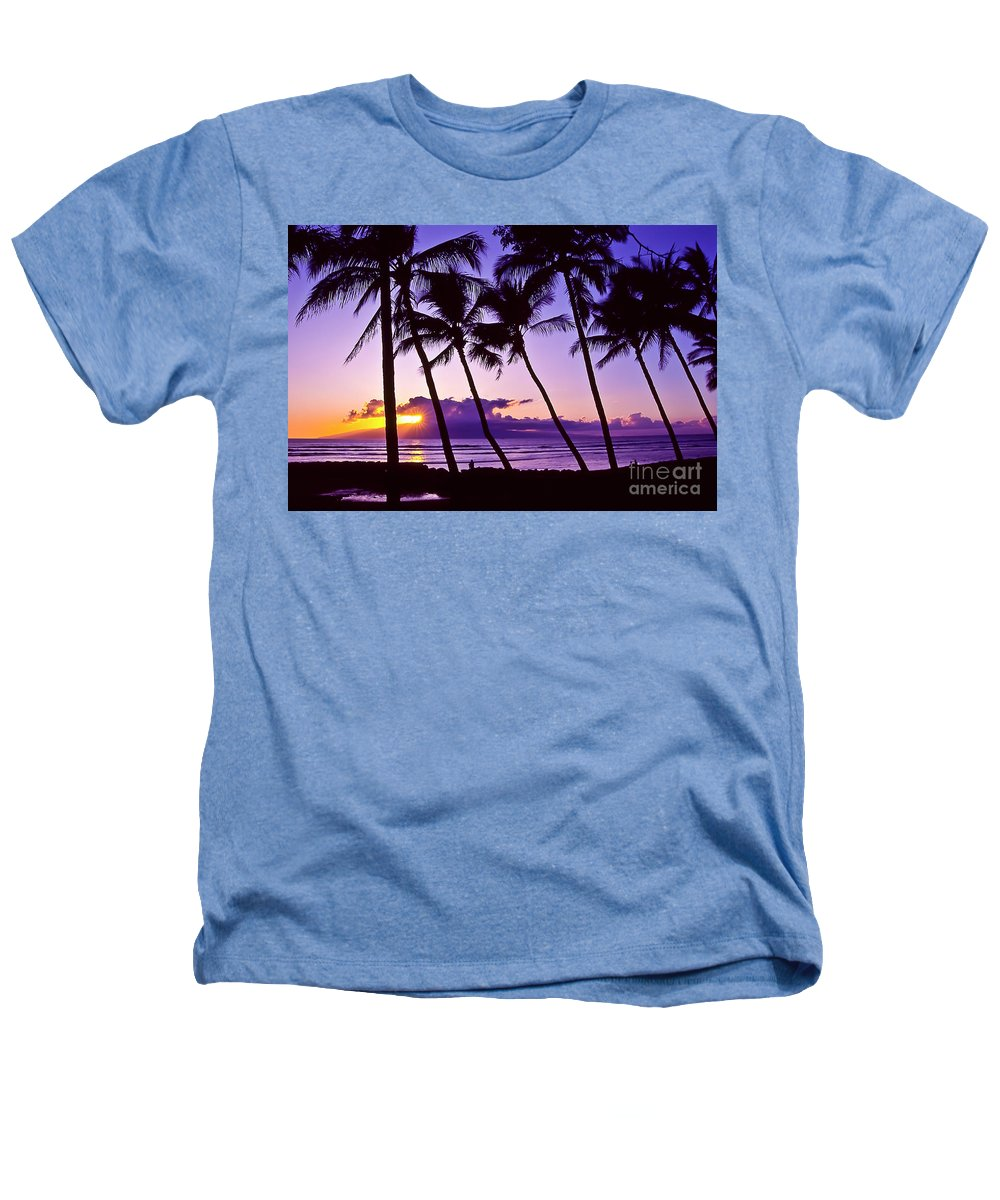 Landscapes Heathers T-Shirt featuring the photograph Lanai Sunset by Jim Cazel