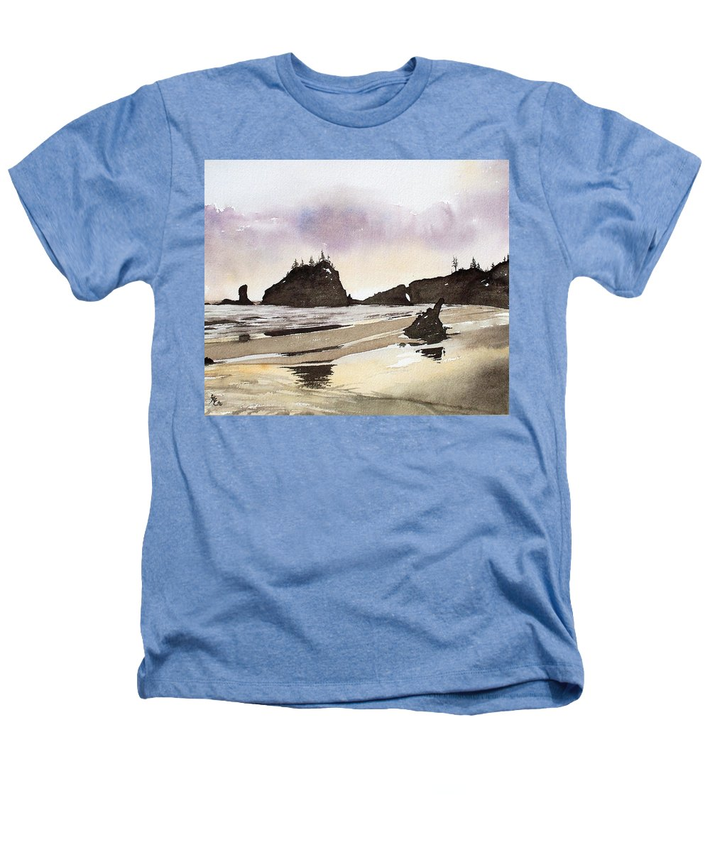 Washington Heathers T-Shirt featuring the painting Lapush by Gale Cochran-Smith