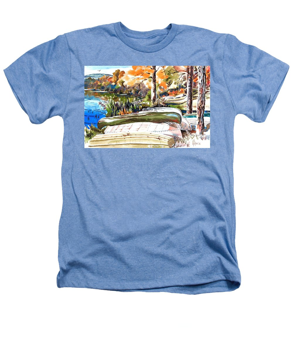 Last Summer In Brigadoon Heathers T-Shirt featuring the painting Last Summer In Brigadoon by Kip DeVore