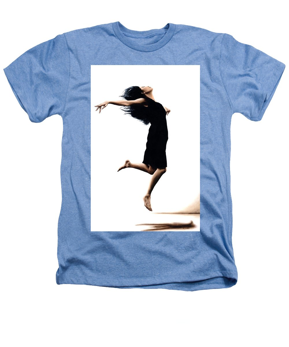 Ballet Heathers T-Shirt featuring the painting Leap Into The Unknown by Richard Young