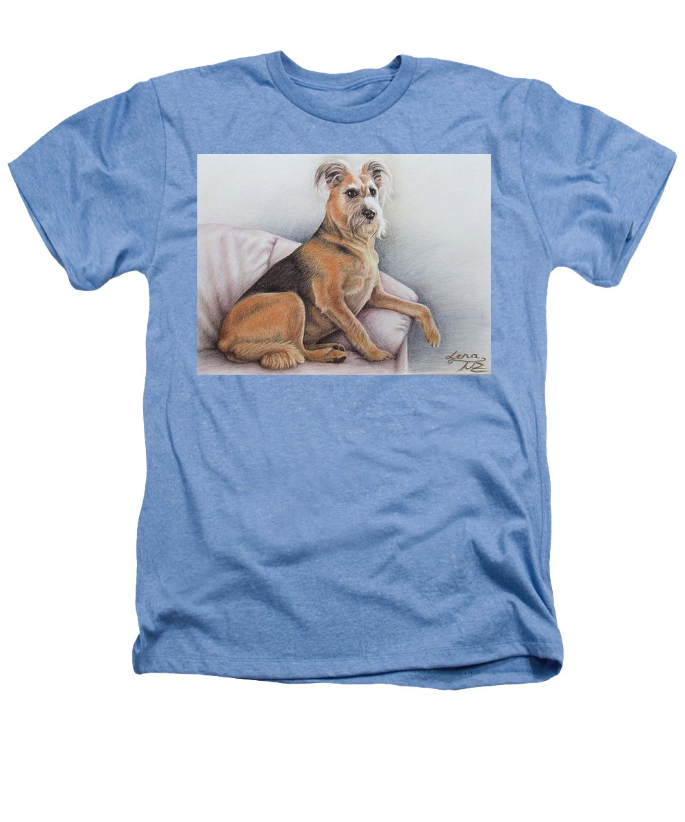 Dog Heathers T-Shirt featuring the pastel Lena by Nicole Zeug