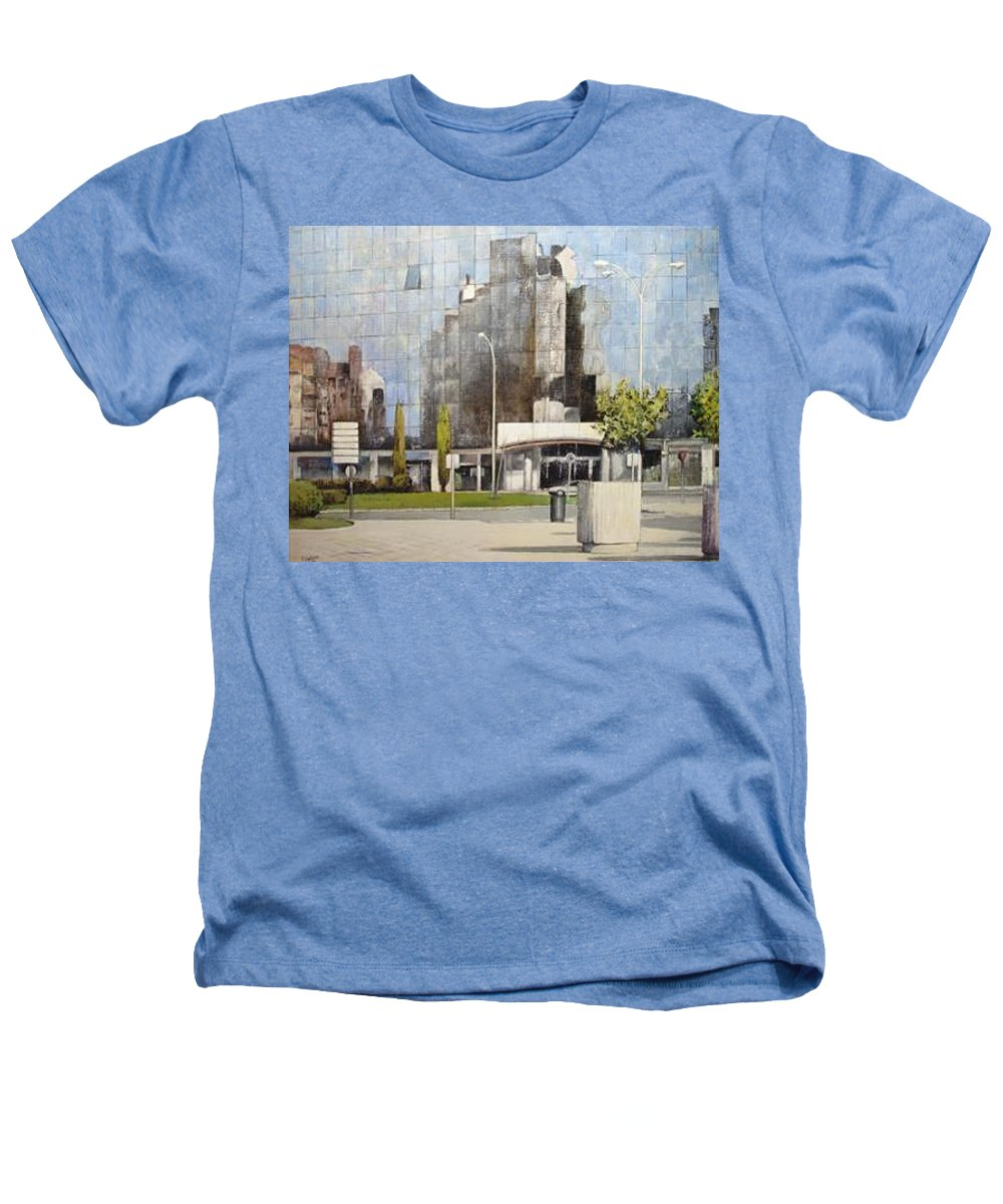 Leon Heathers T-Shirt featuring the painting Leon by Tomas Castano