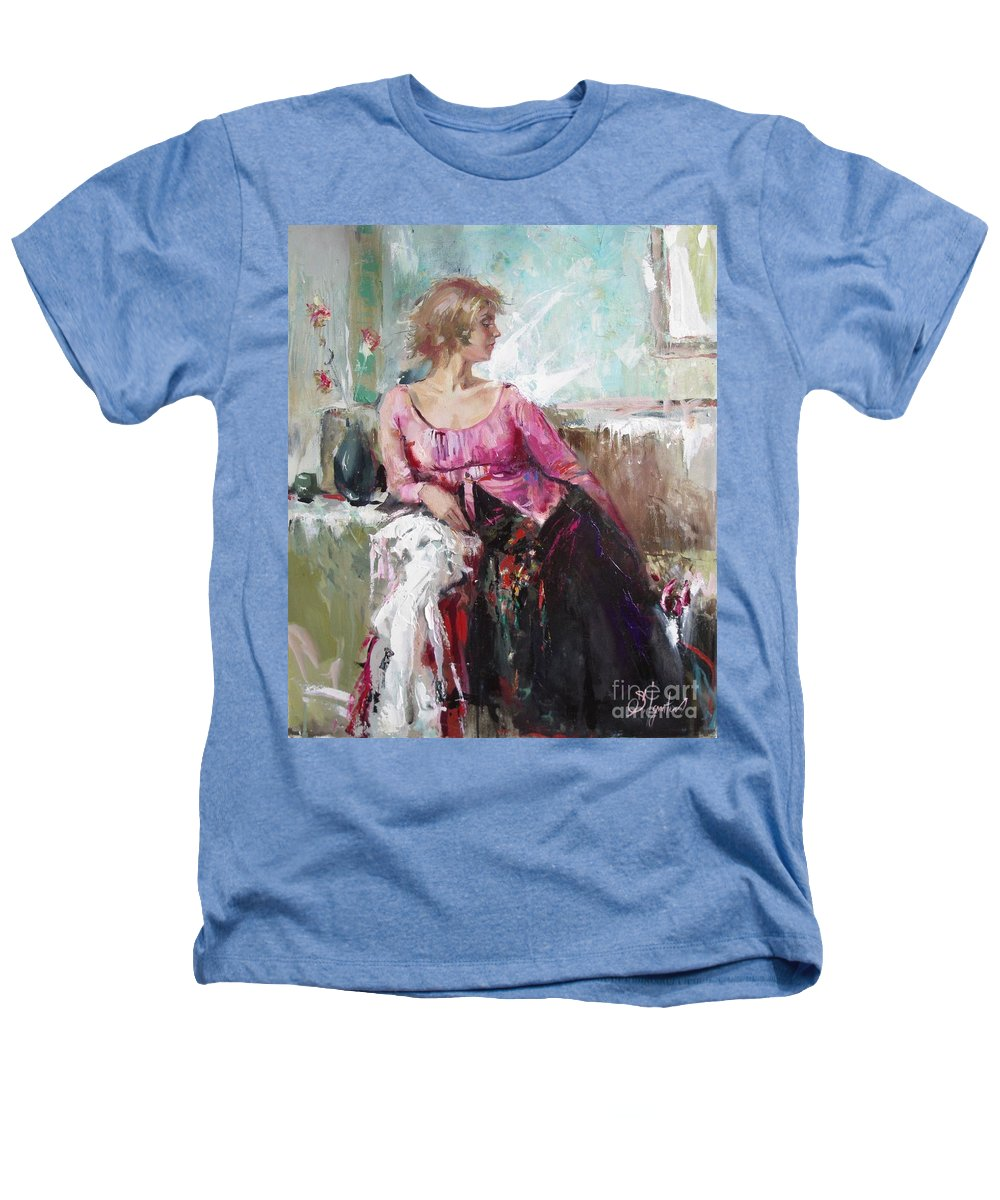 Ignatenko Heathers T-Shirt featuring the painting Lera by Sergey Ignatenko