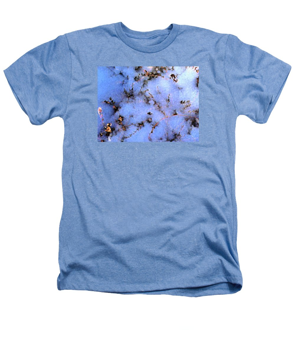 Abstract Heathers T-Shirt featuring the digital art Light Snow In The Woods by Dave Martsolf