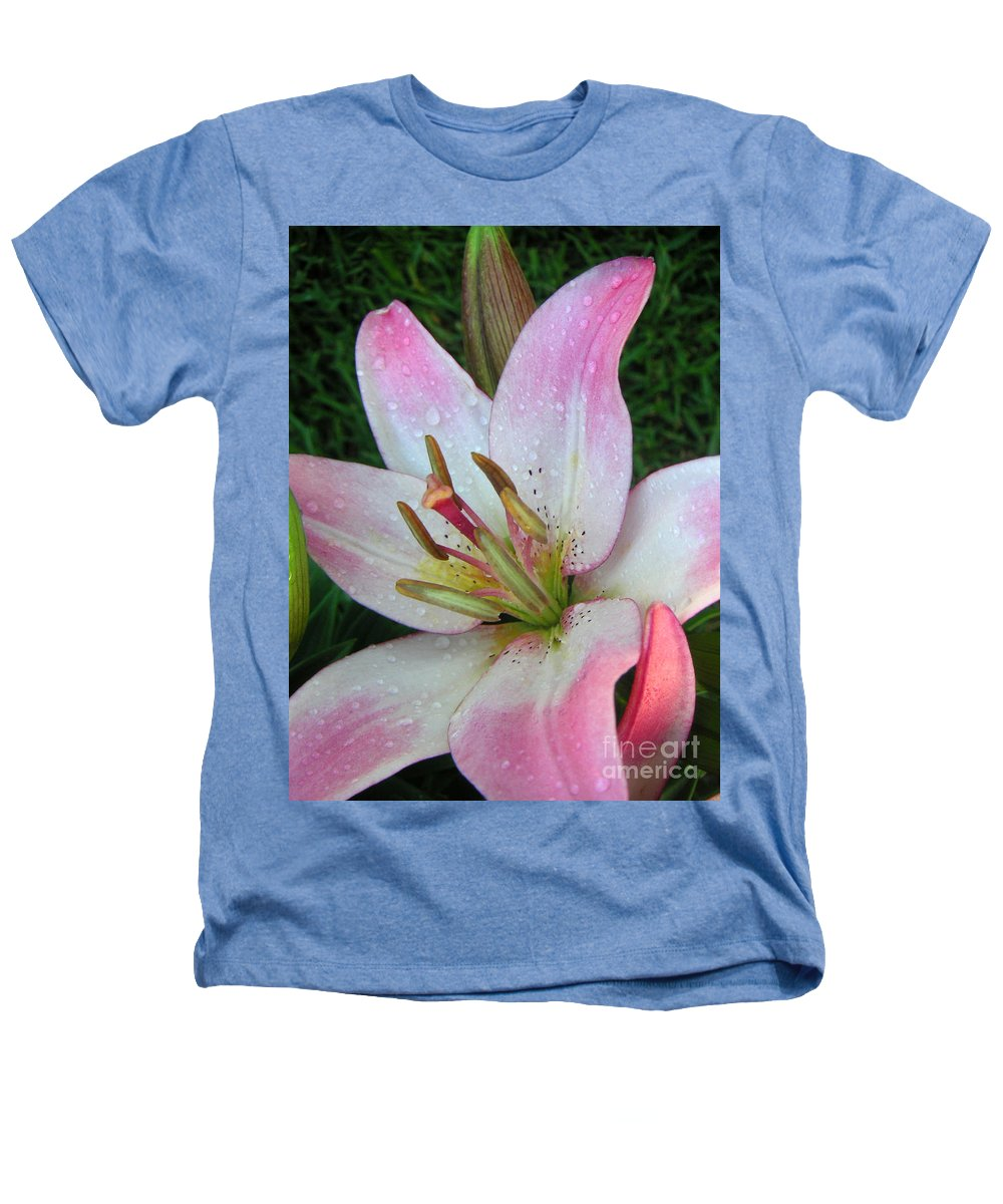 Nature Heathers T-Shirt featuring the photograph Lily Singled Out by Lucyna A M Green