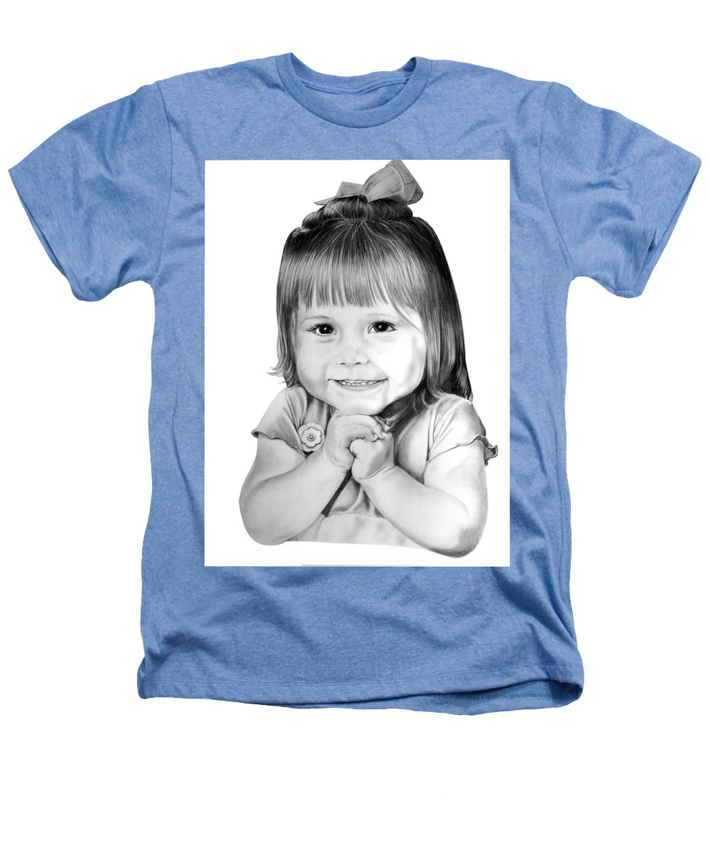 Child Heathers T-Shirt featuring the drawing Little Bailey by Murphy Elliott