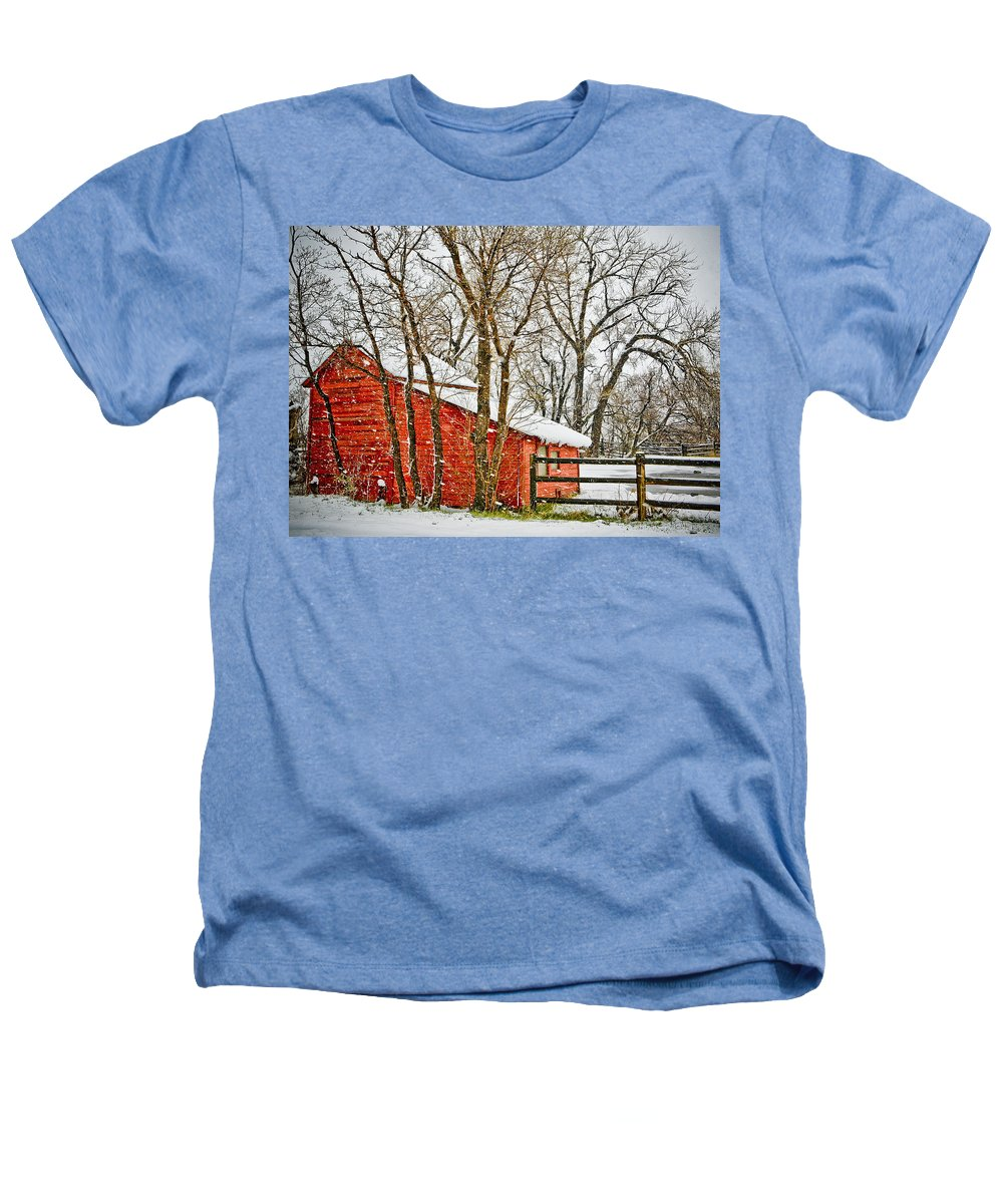 Americana Heathers T-Shirt featuring the photograph Loafing Shed by Marilyn Hunt