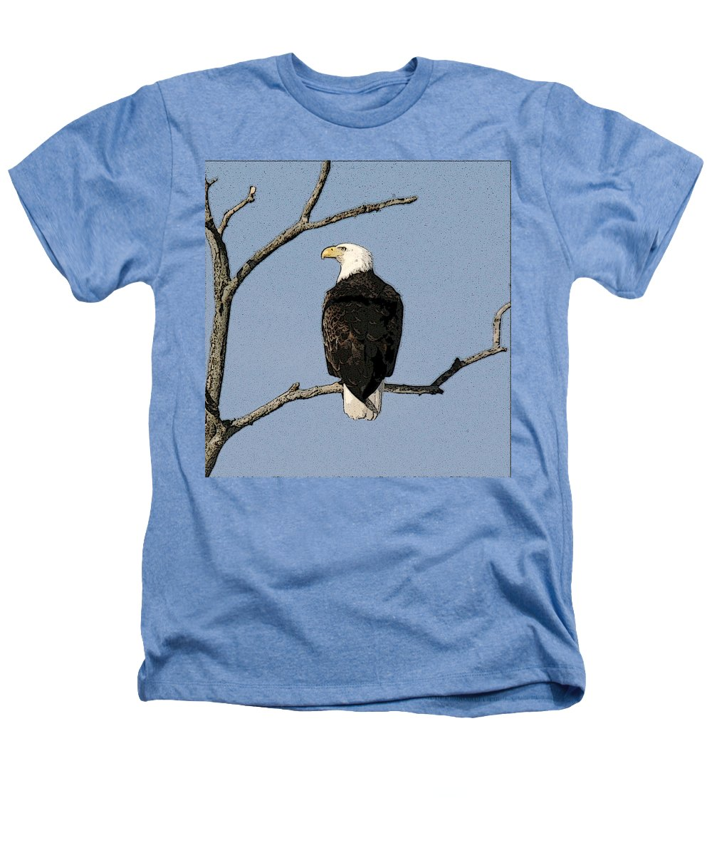 Eagle Heathers T-Shirt featuring the photograph Look Out by Robert Pearson