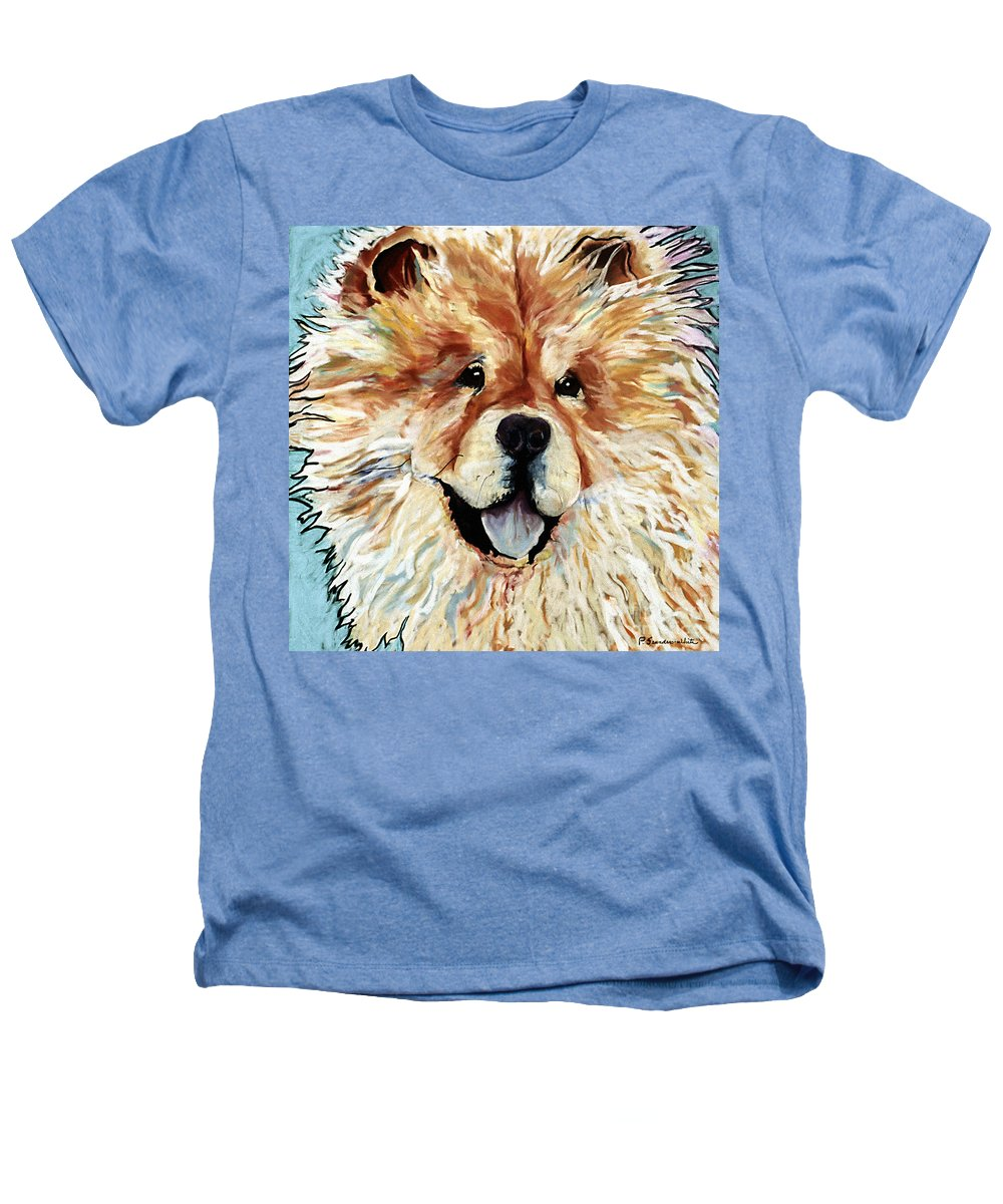 Chow Chow Heathers T-Shirt featuring the pastel Madame Chu Cho by Pat Saunders-White