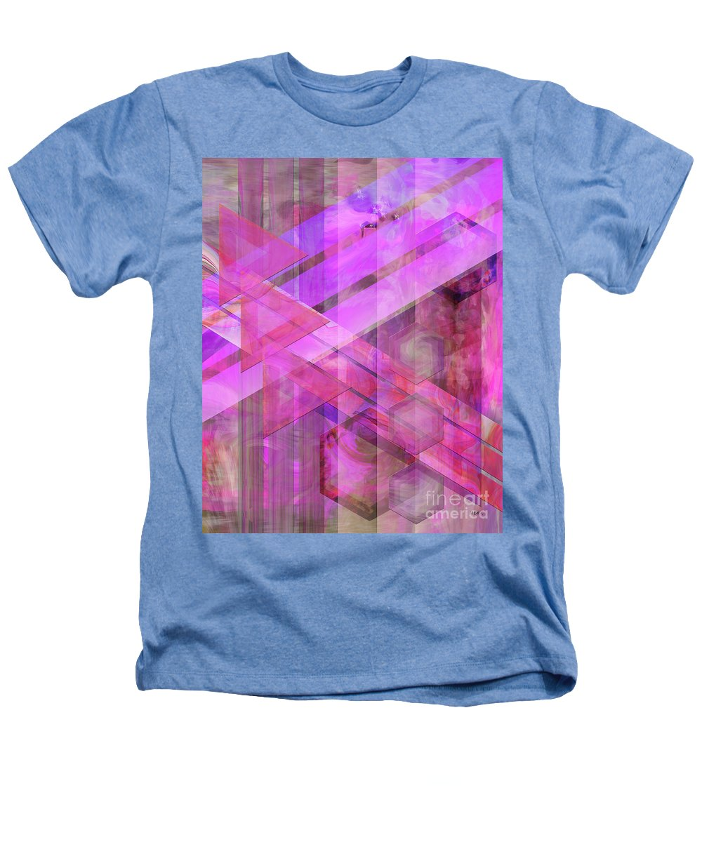 Magenta Haze Heathers T-Shirt featuring the digital art Magenta Haze by John Beck