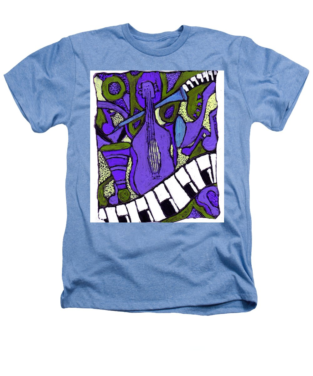 Jazz Heathers T-Shirt featuring the painting Melllow Jazz by Wayne Potrafka
