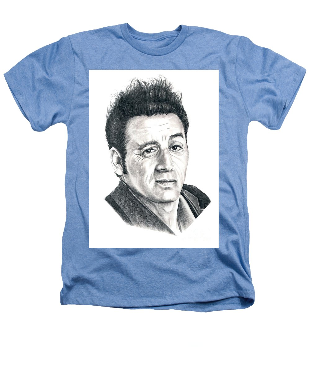Pencil Heathers T-Shirt featuring the drawing Michael Richards Cosmo Kramer by Murphy Elliott