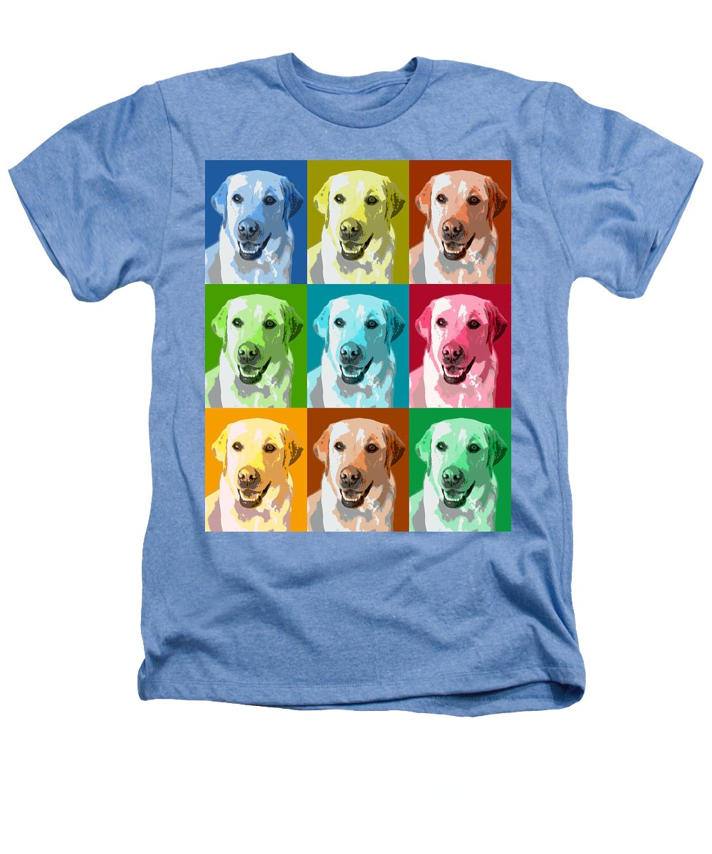 Americana Heathers T-Shirt featuring the photograph Golden Retriever Warhol by Marilyn Hunt
