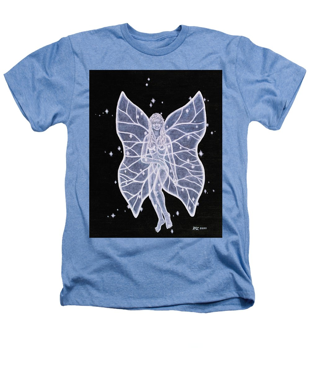 Fairy Heathers T-Shirt featuring the painting Moon Fairy by Roz Eve