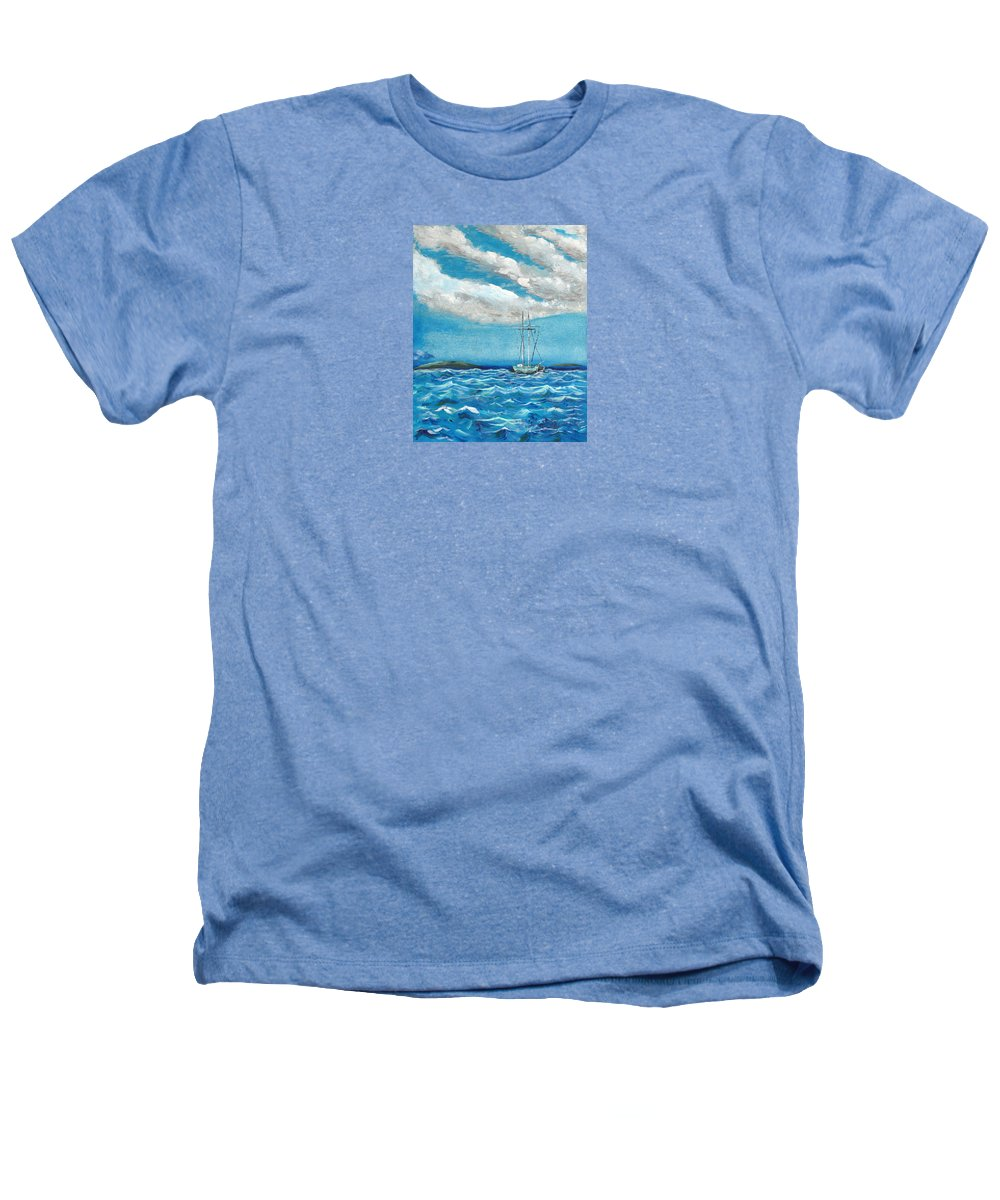 Impressionism Heathers T-Shirt featuring the painting Moored In The Bay by J R Seymour