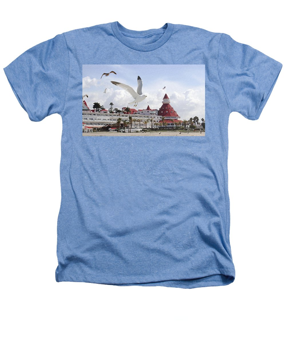 Beach Heathers T-Shirt featuring the photograph Morning Gulls On Coronado by Margie Wildblood