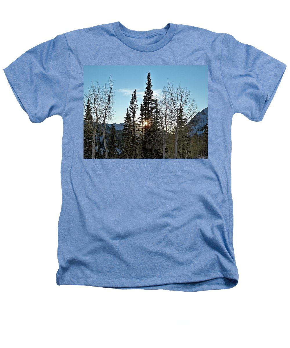 Rural Heathers T-Shirt featuring the photograph Mountain Sunset by Michael Cuozzo