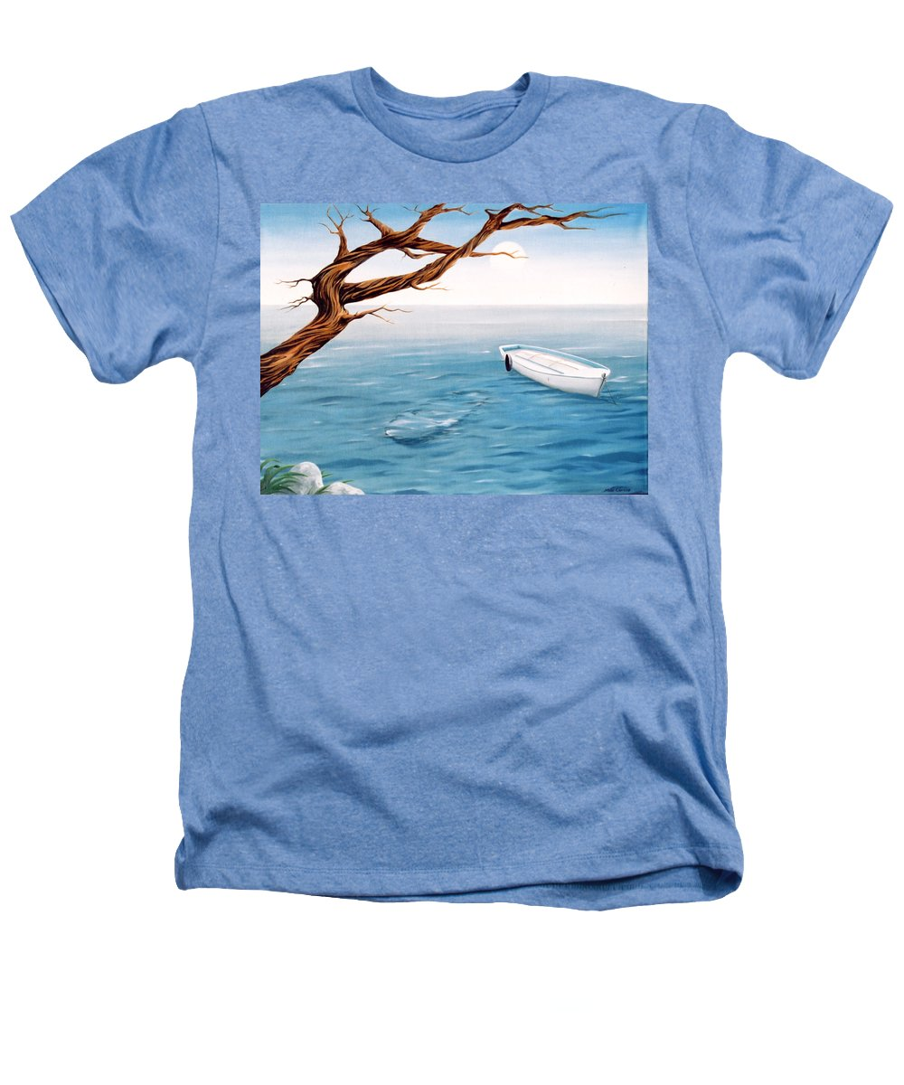 Seascape Prints Heathers T-Shirt featuring the painting Mourning Spring by Mark Cawood